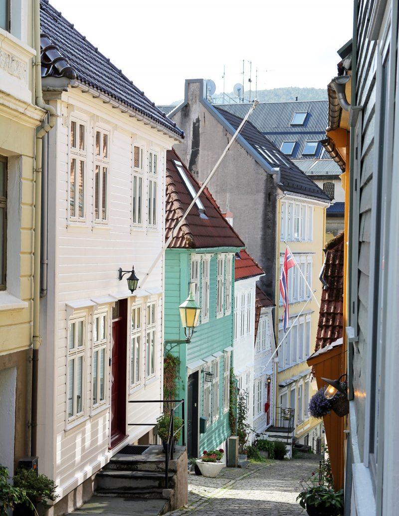 Traditional wooden houses in Bergen Norway