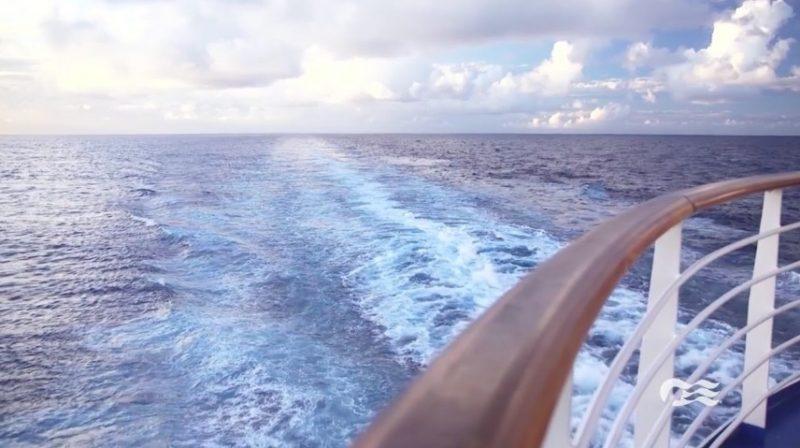 Wake view on Princess Cruise Ship