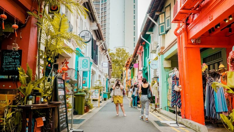 Shopping street Haji Lane in Singapore