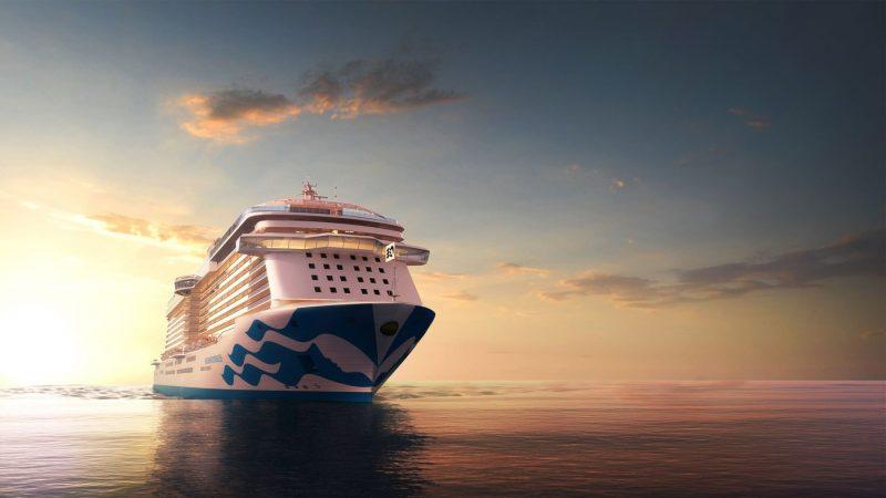 A render of Enchanted Princess at sea