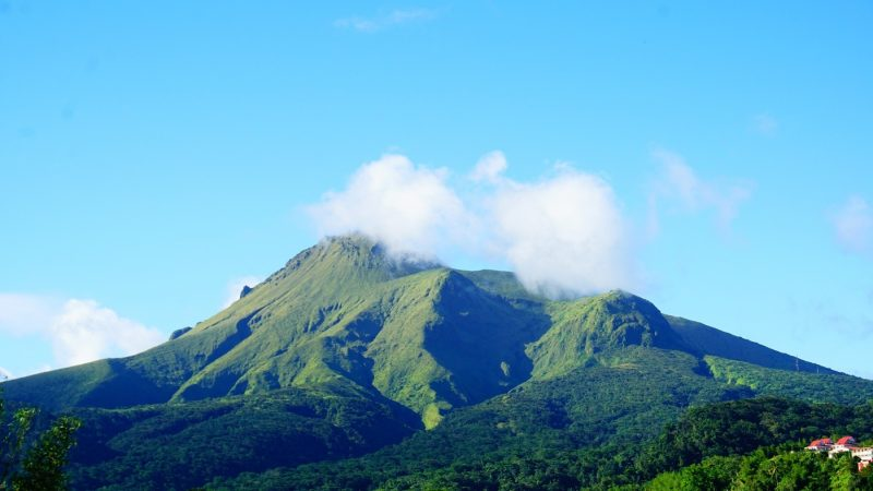 La montagne Pelee in Martinique, the Caribbean