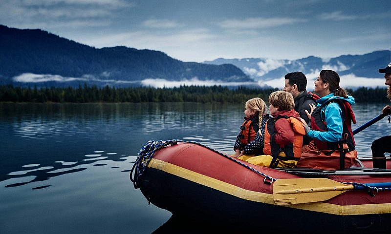 Alaska water adventure family