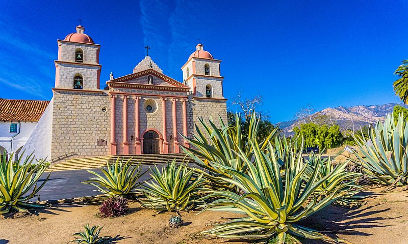 Old Mission, a cultural and historic landmark in the city of Santa Barbara, California