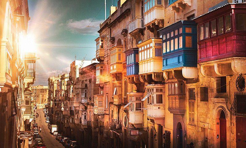 Street scene from Valetta in Malta