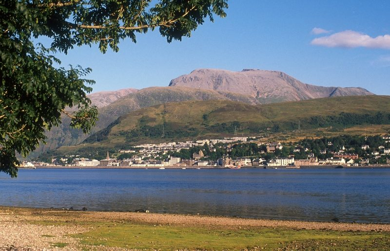 Looking Over Loch Linnhe To The Town Of Fort William
