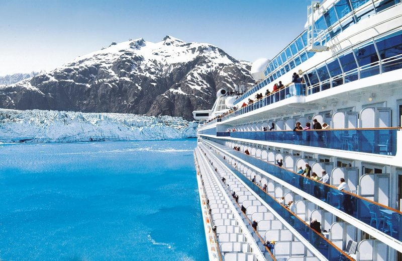 Princess ship in Glacier Bay