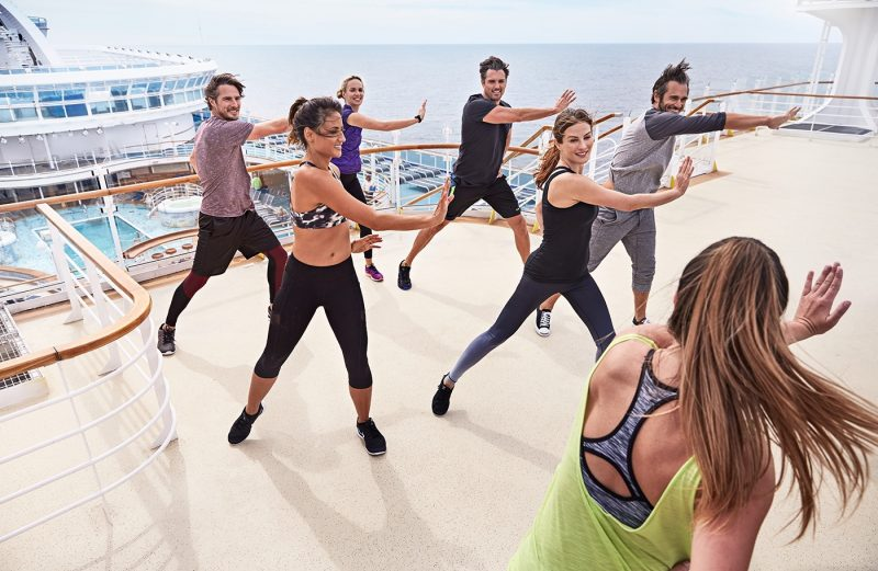 Fitness on deck Princess Cruises