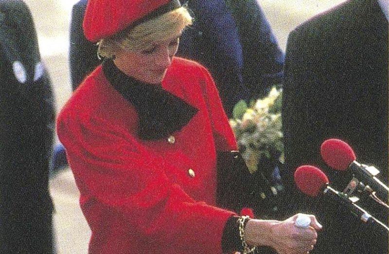 Princess Diana at Princess godmother ceremony