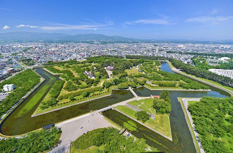 Aerial view of Hakodate, Japan