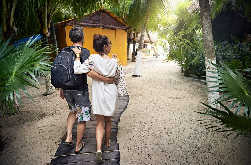 Couple on nature walk