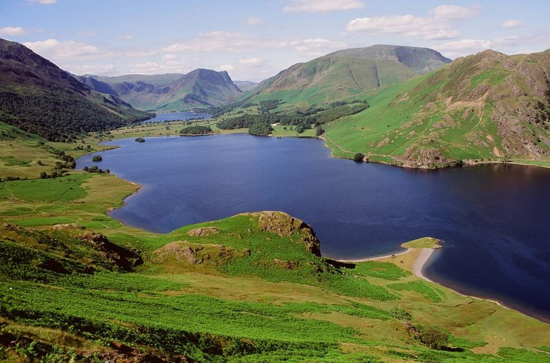 Buttermere and Crummock Water in the Lake District National Park