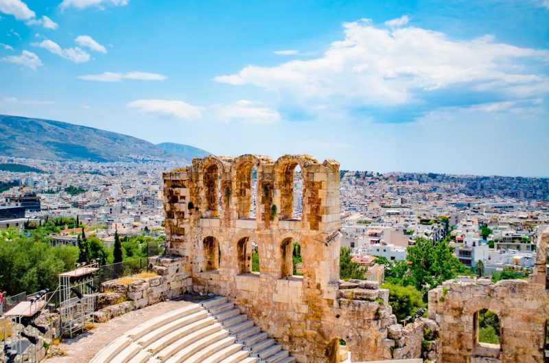 The view from the Acropolis in Greece