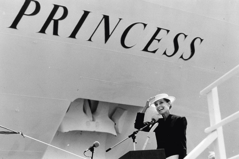 Audrey Hepburn at Princess Godmother ceremony