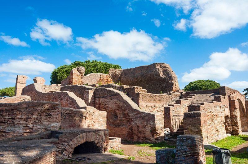Terme del Foro (Public bath), Ostia antica archaeological site, Ostia, Rome province, Latium, Lazio, Italy
