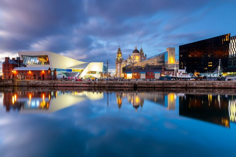 View over the water of Liverpool