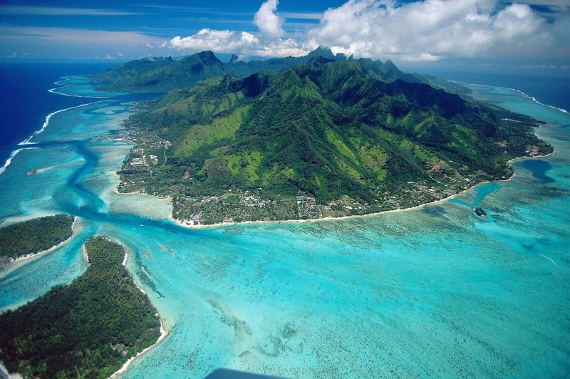 Aerials Of Moorea Island, French Polynesia