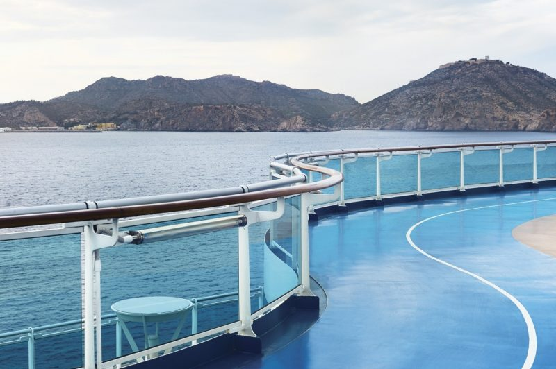 A jogging track onboard a Princess ship