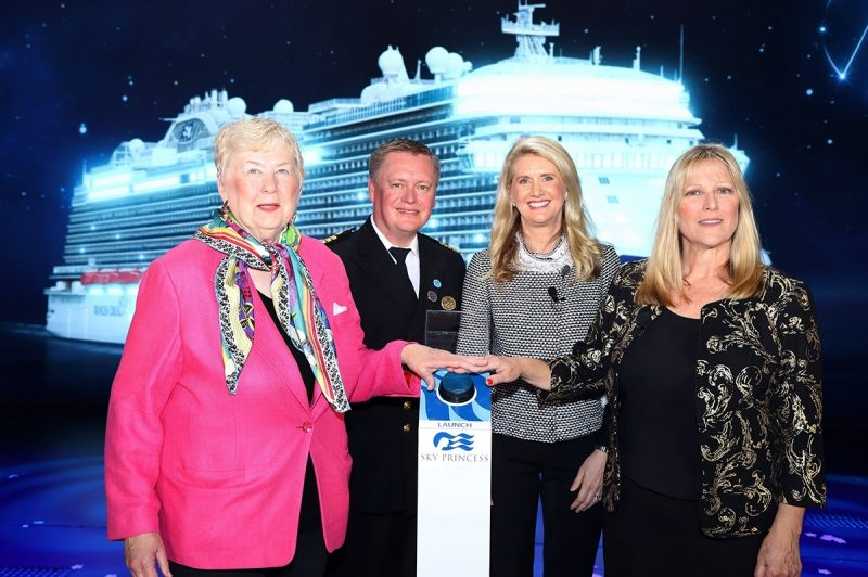 Sky Princess Godmother Naming Ceremony