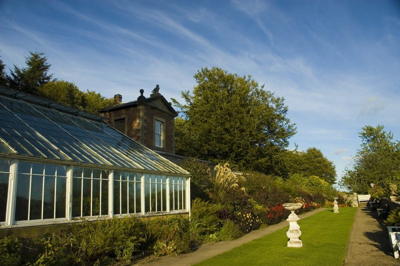 Wallington Walled Garden with greenhouse