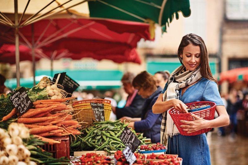 Fruit and veg market in Aix en Provence