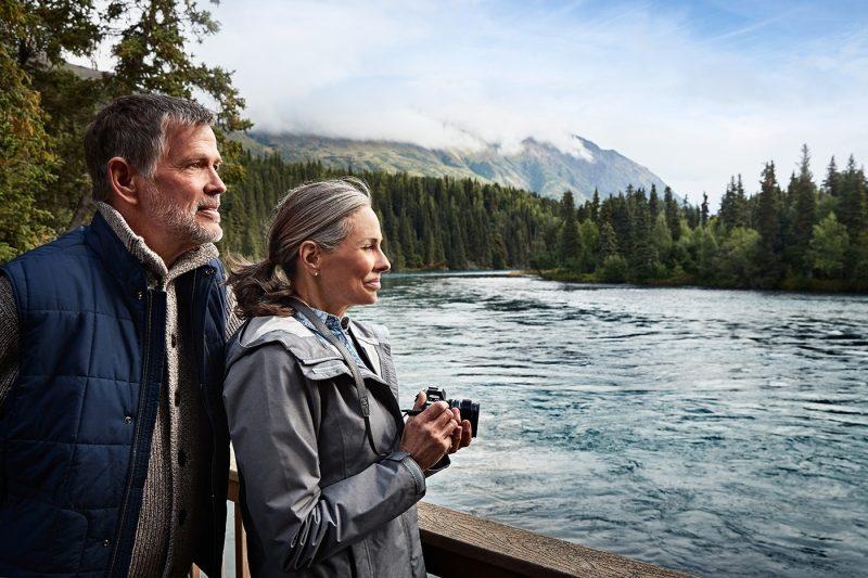 Couple hiking in Alaska