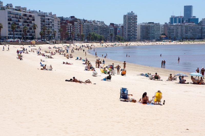 Pocitos Beach, Montevideo, Uruguay, South America