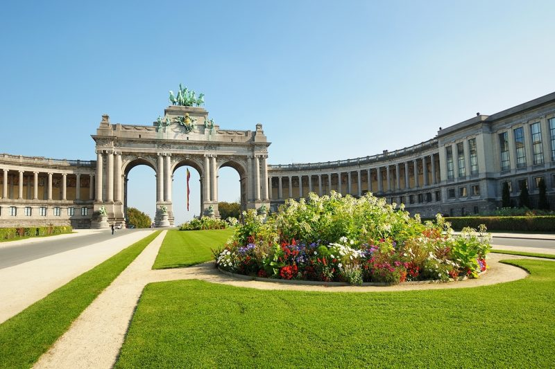 The Triumphal Arch in Cinquantenaire Parc in Brussels