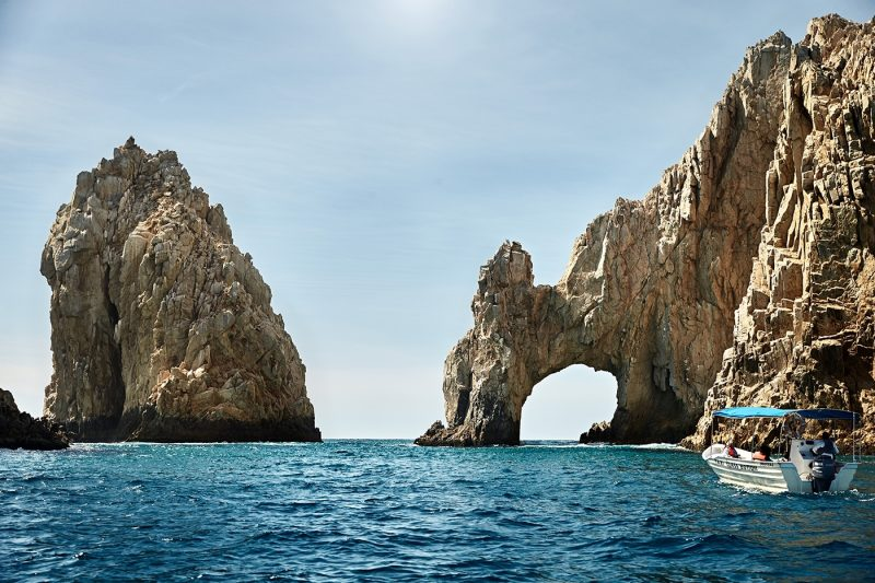 Cabo Rock Arch With Boat