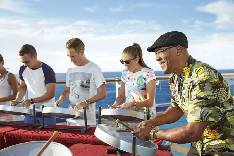 Princess guests experience Caribbean steel drums onboard a Princess ship