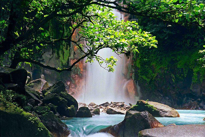 Celeste Falls Costa Rica