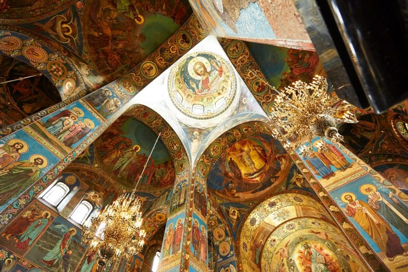 The stunning interior of the Church of the Savior on Spilled Blood Church St Petersburg