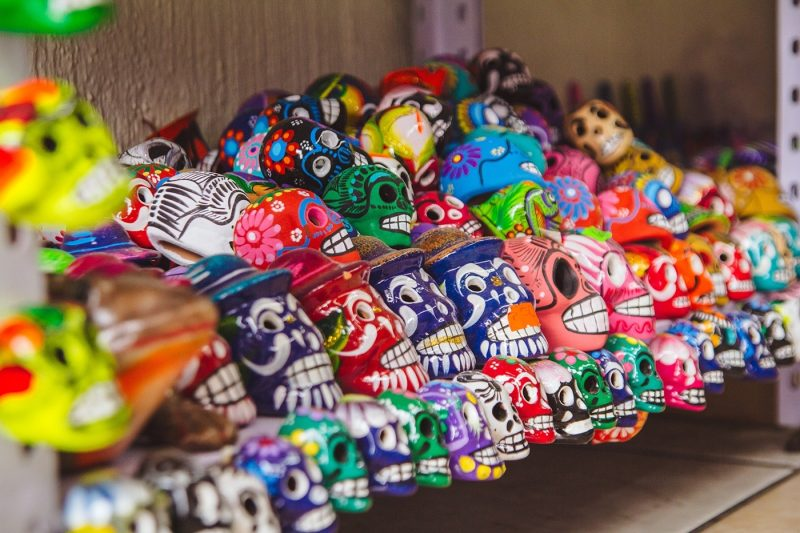 Decorative Day of the Dead skulls