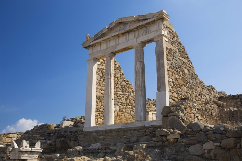 Archaeological remains of the Temple of Isis, Delos