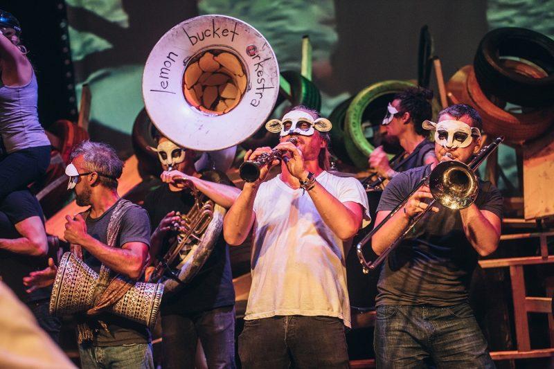 Band playing at Edinburgh fringe