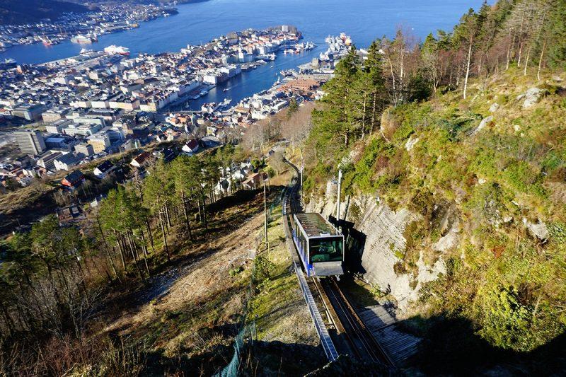 View of Bergen from Mount Floyen, Bergen