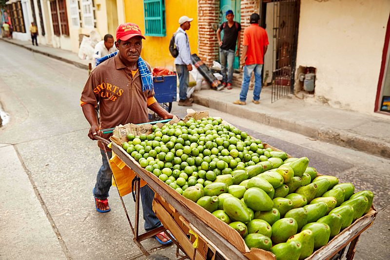 Fruit cart Panama Canal Colombia
