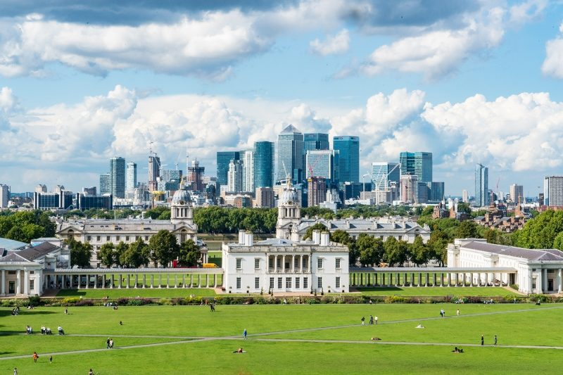 A view of Greenwich, London