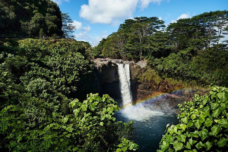 Hawaii Hike with Waterfall