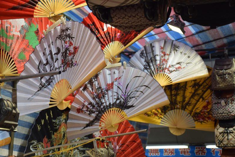 Fans at a street market
