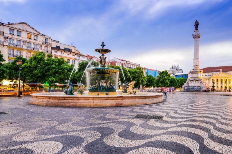 Lisbon Portugal Rossio Square