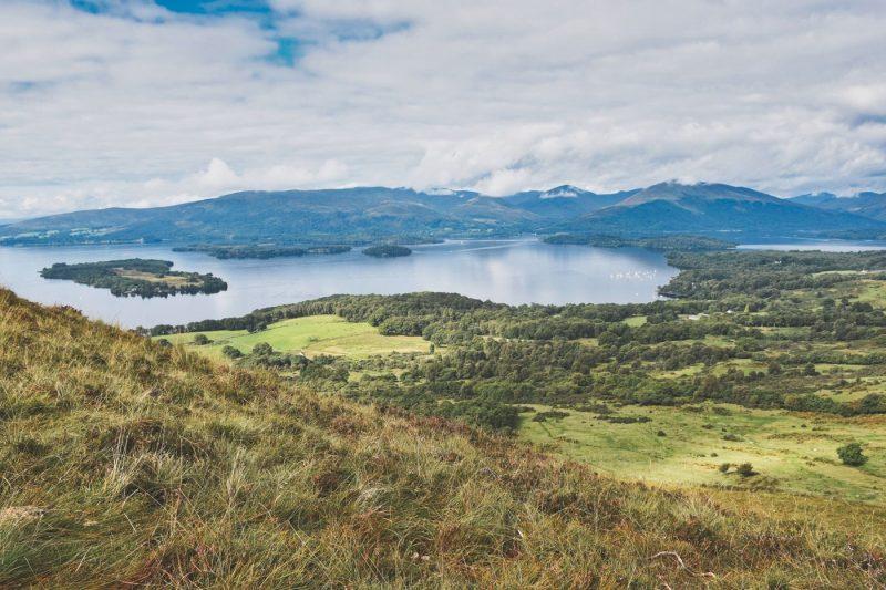 View over Loch Lomond in Scotland