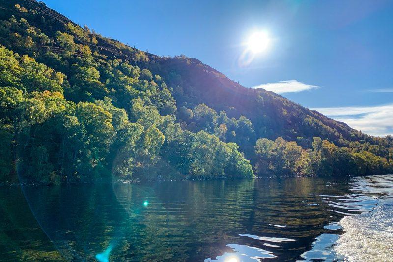 Cruising across Loch Ness