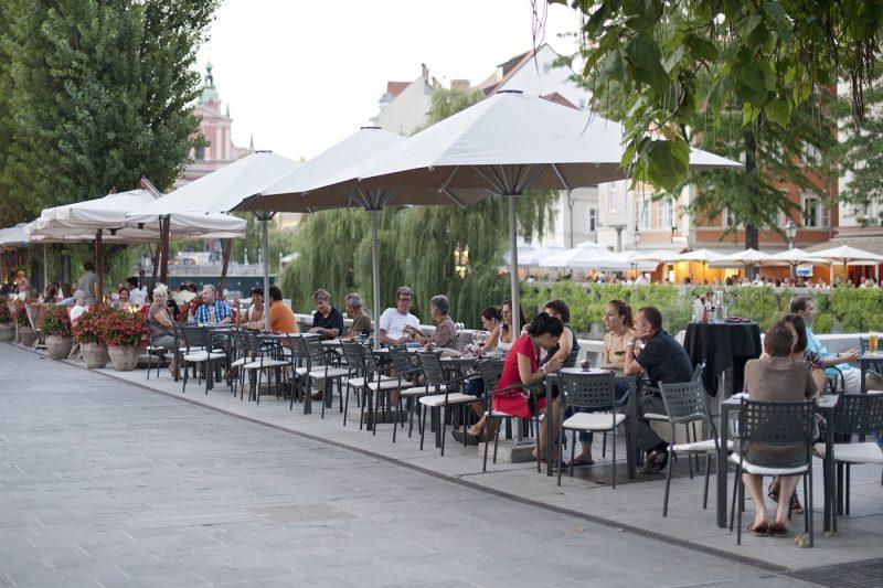 Lublijana River Cafes