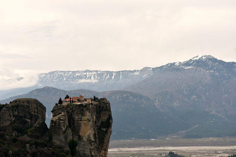 The towering monastaries of Meteora