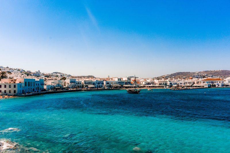 Bars and restaurants, Little Venice, Mykonos