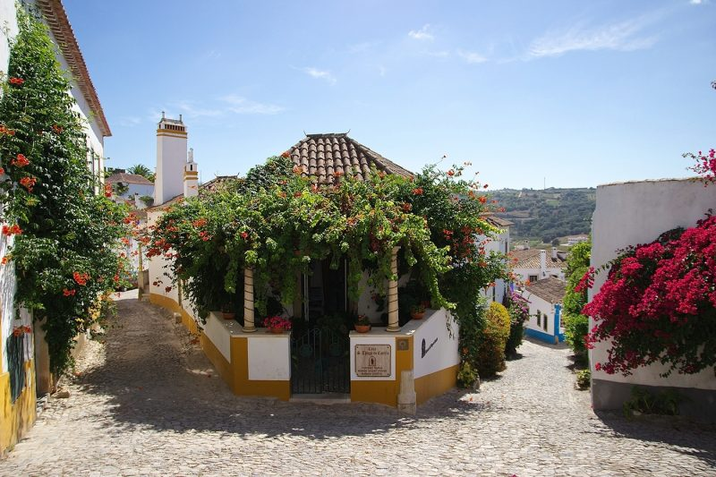 The cobbled streets of Obidos