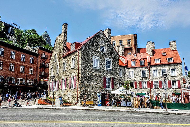 Pretty buildings in Old Québec, Québec City in Canada