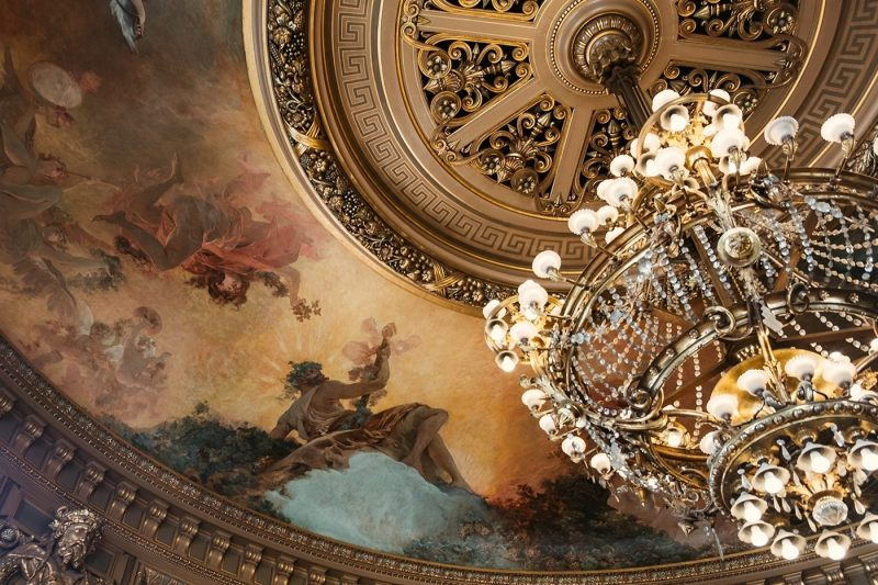 Interior roof of the beautiful Palais Garnier