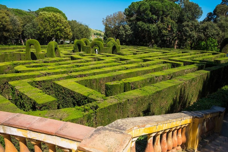 Hedge maze Parc del Laberint d Horta in Barcelona