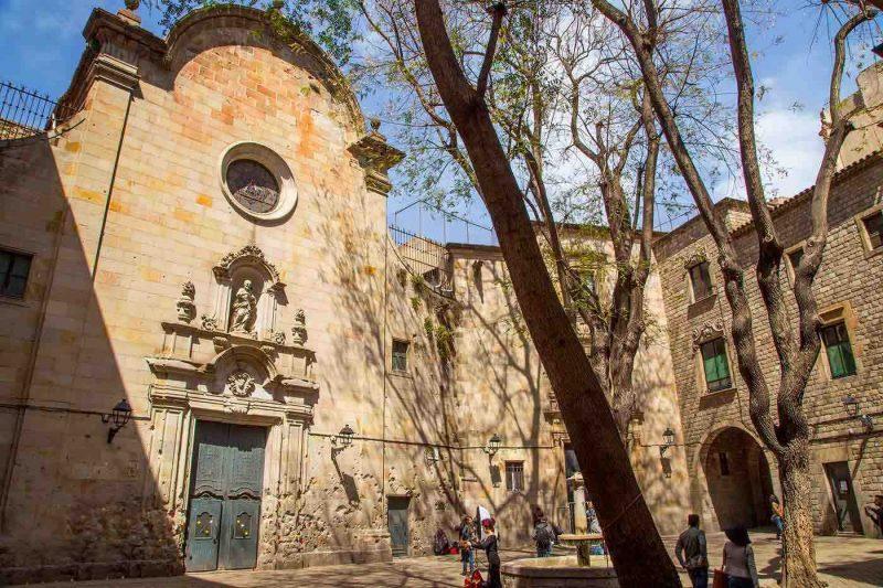Placa de Sant Felip Neri in Barcelona